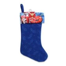 "Disney CARS Blue 15"" Embossed Felt and Satin Christmas Holiday Stocking - $9.99"