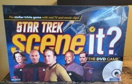 NEW Mattel Star Trek Scene It? DVD Game with Real TV and Movie Clips 13 ... - $9.85