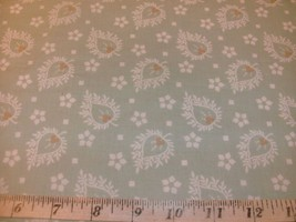 1/2 Yd Vintage Floral Andover Quilt Fabric Koala Floral Print Light Gree... - $4.99