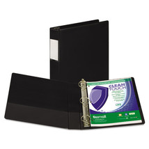 "Clean Touch Locking D-Ring Reference Binder, Antimicrobial, 1 1/2"" Cap, ... - $29.48"
