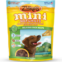 Zuke's Mini Naturals Moist Miniature Treat for Dogs Delicious Duck 6 oz. - $5.79