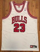 Authentic Nike 1997-98 Chicago Bulls Michael Jordan Home White Jersey 52 XXL - $399.99
