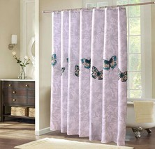 Fyjafon Thick Bathroom Shower Curtain Waterproof Moldproof Polyester Fabric Bath - $38.95