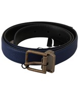 Men's Dolce & Gabbana Brushed Buckle Leather Belt Blue - £98.25 GBP