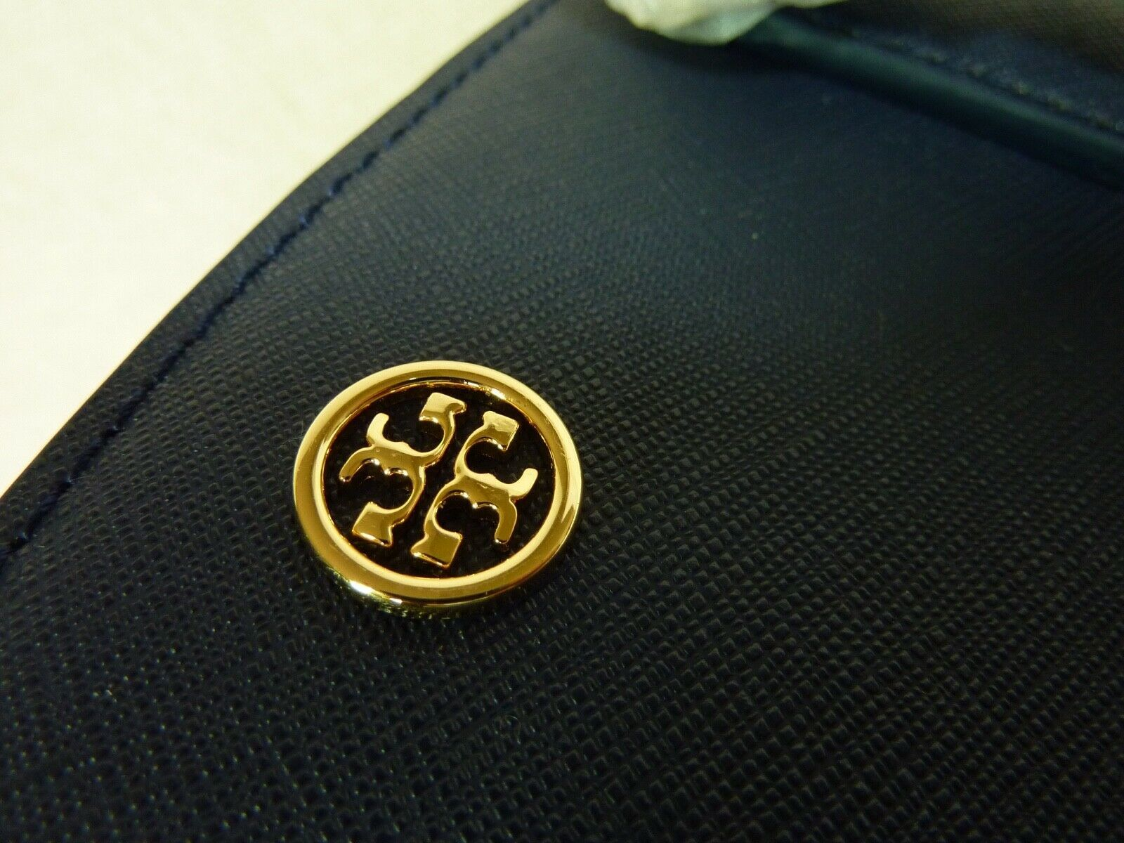 Nwt Tory Burch Navy Saffiano Leder Robinson Triple-Compartment Tote $ 458 image 7