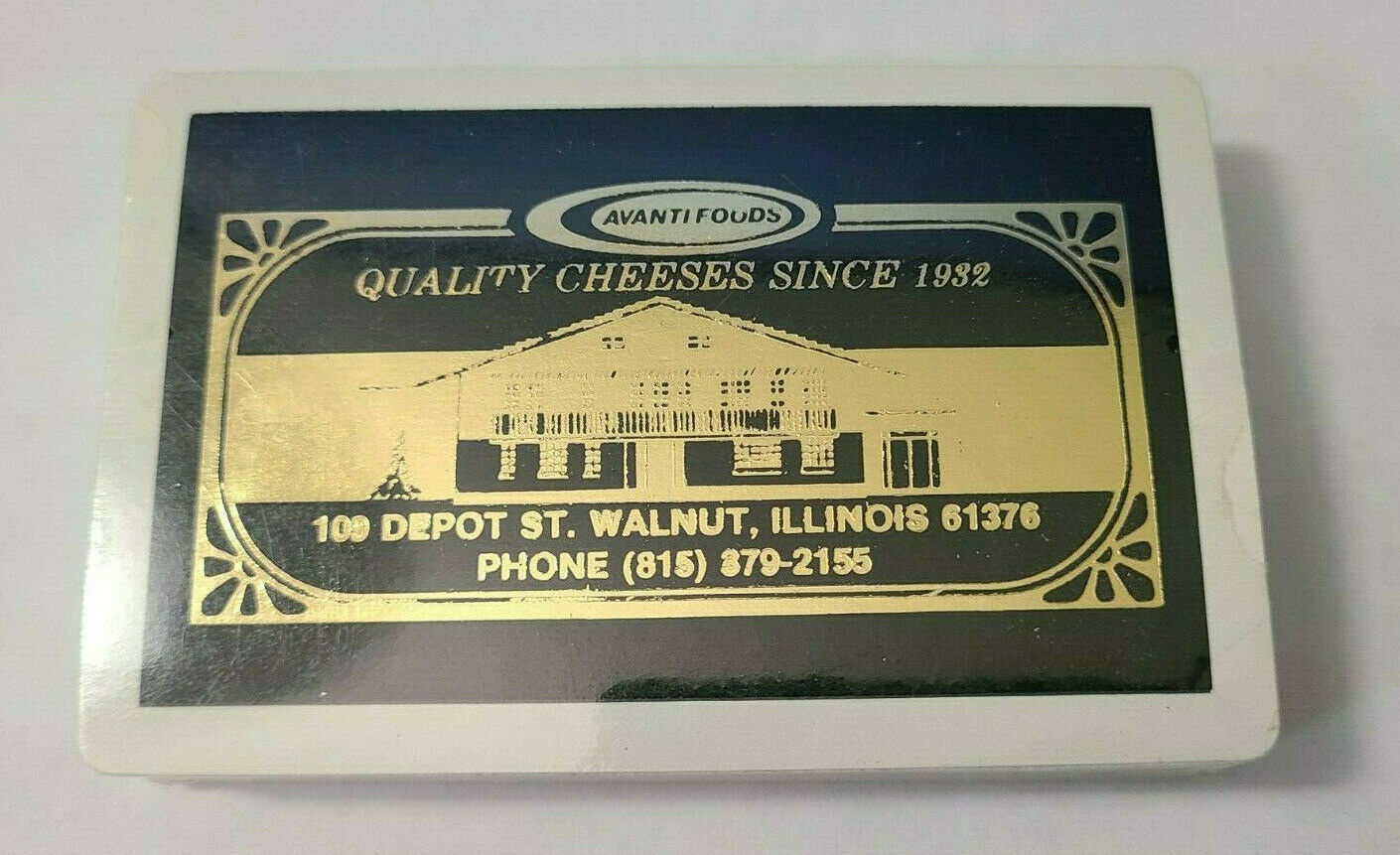 Avanti Foods Quality Cheese Illinois Deck of Playing Cards   (#40)