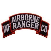 Army Airborne Ranger Embroidered Shoulder Patch  PAT-0116 - $3.94