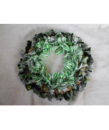 Lucky Shamrock Rustic Green Rag and Ruffled Bur... - $34.65