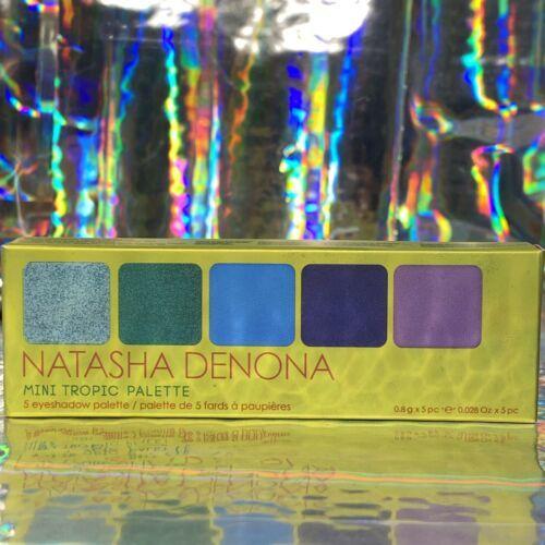 NEW IN BOX Natasha Denona TROPIC mini Palette 5 Vibrant Shades Purple Green & +