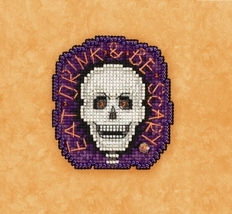 Be Scary 2017 Seasonal Autumn Harvest Series cross stitch kit Mill Hill - $7.20