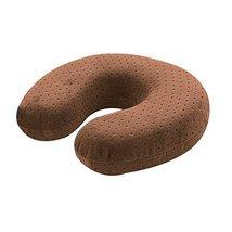 Mocha Color Basic Velvet Travel Neck Pillow - $20.74