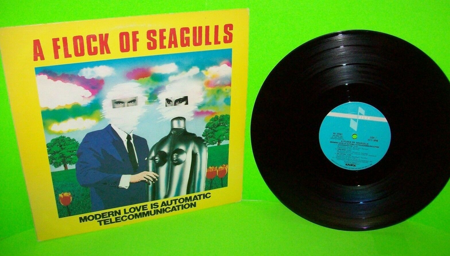 "A FLOCK OF SEAGULLS Modern Love Is Automatic 12"" Vinyl Record New Wave Synth-Pop"