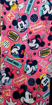 Minnie Mouse Disney Cartoon 34 x80 Cm Hot Pink Easy Use Bathing Use Cotton Towel - $10.99