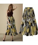Plus Size 5XL Women Skirts Floral Print Boho Style Pleated Skirt Elastic - $24.99