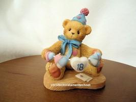 Cherished Teddies Birthday Bear Age 18 2000 European Exclusive UIB - $49.45