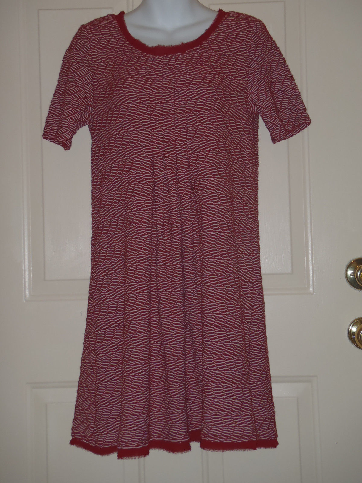 cb8314ff4953 Maeve Anthropologie Maroon White Squiggles and similar items