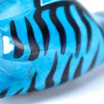 Crafts Caravan Hand Carved Soapstone Striped Blue Giraffe Figurine Made Kenya image 7