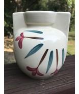 Vintage Purinton Ivy Red Blossom Art Deco Slip  Ware Pottery Jug Vase Pi... - $12.86