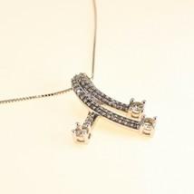 18k white gold Chain 0.75ct DIAMOND Pendant Necklace BHS - $1,096.28