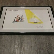 "Mel Blanc ""Speechless"" Framed Print Art Warner Bros Looney Tunes 1908-1989 - $163.35"