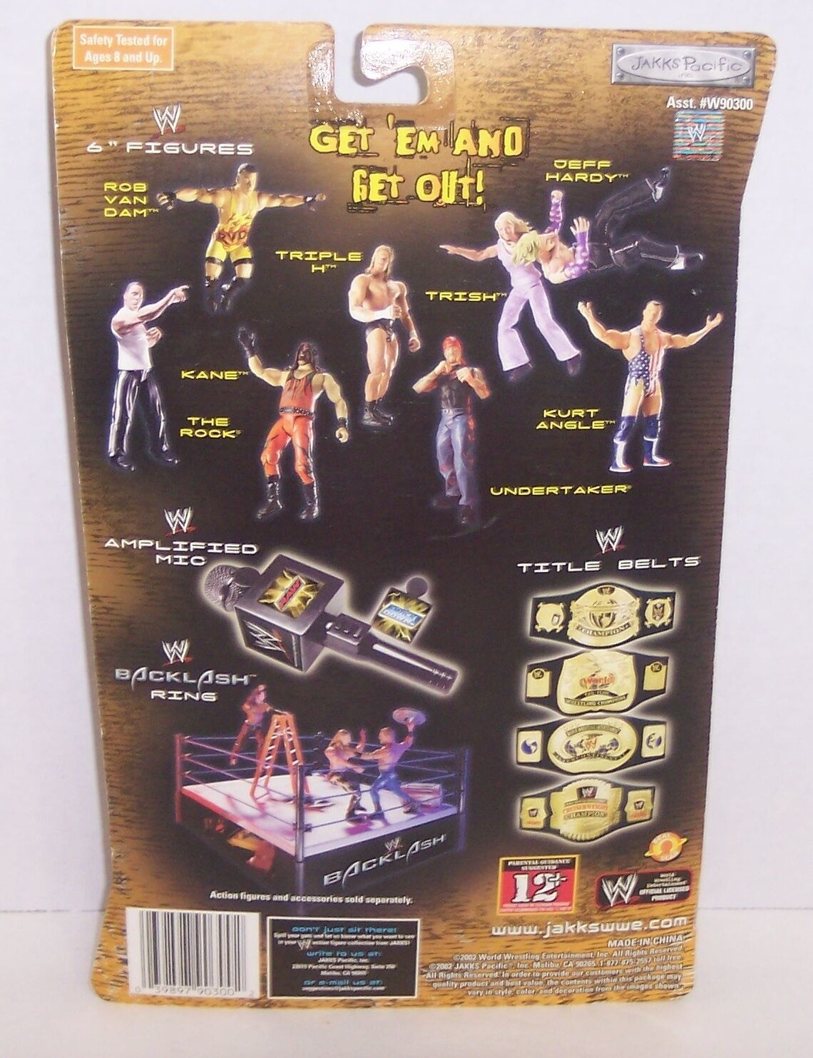 "NEW! 2002 Jakk's Off The Ropes ""Hollywood Hulk Hogan"" Action Figure WWE {1093} image 2"