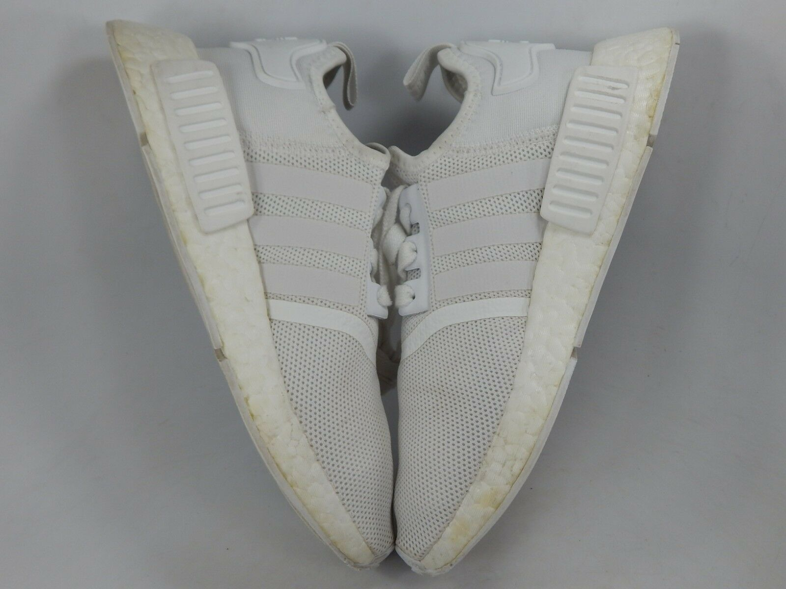 Adidas Nmd R1 Triple Blanc Taille 5 M (Y) Ue 37 1/3 Jeunesse Chaussures Course