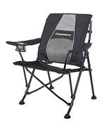 STRONGBACK Guru Folding Camp Chair with Lumbar Support, Black & Grey - $90.07