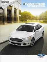 2014 Ford FUSION sales brochure catalog US 14 SE Titanium HYBRID ENERGI - $8.00