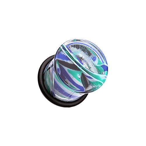 Primary image for Vibrant Marble Swirls Single Flared WildKlass Ear Gauge Plug (Sold as Pairs)