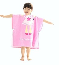 Cartoon Animal Series Soft Baby Hooded Bath Towel (12060CM) / Pink Angel