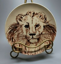 """Vintage Fitz & Floyd FF 7.5"""" Brown Animal Plate Lion Decorative Collectible - $34.99"""