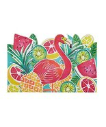 Coastal Living Seascapes Tropical Fruits and Flamingo Rubber Door Mat, 2... - $41.65