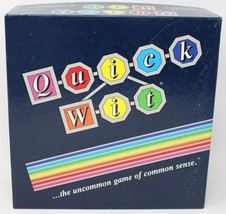 Quick Wit Board Game 1987 Vintage COMPLETE  Pre-owned - $14.01