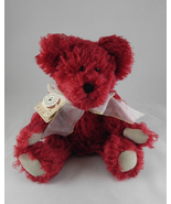 "Boyd's Bears ""Scarlett Bearington"" Handmade Jointed Red Mohair Teddy 590... - $30.00"