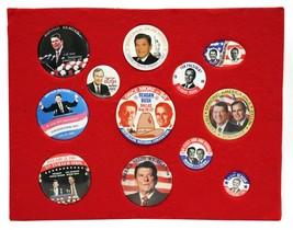 VINTAGE 1984 1988 Ronald Reagan + George HW Bush Campaign Button Display... - $98.99