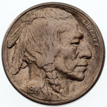 1914-S 5C Buffalo Nickel in AU Condition, Excellent Eye Appeal, Strong L... - $173.24