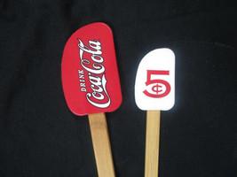Coca-Cola 2-piece Spatula Set Wooden Handles Red White Drink Coca-Cola 5... - $8.91
