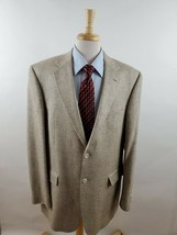 Stafford Men's 42L 100% Silk Beige Herringbone Tweed Blazer Sport Coat J... - $36.28