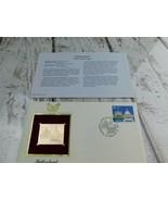 Switzerland 700th Anniversary. 22kt Golden Replica Stamp 1991 First Day ... - $19.79
