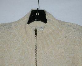 Simply Noelle Brand JCKT222SM Womens Pearl Zipper Knit Sweater Jacket Size SM image 4