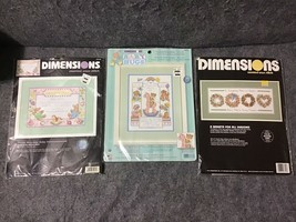 Dimensions Lot/3 #35030 #72818 #3709 Counted Cross Stitch Sealed Kits - $48.65