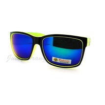 Biohazard Sporty Sunglasses Square Colorful Mirror Lens Eyewear - $9.95