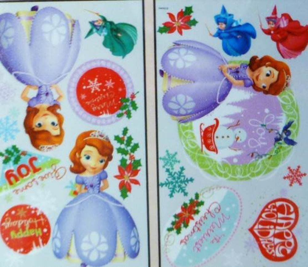 Disney  Christmas Holiday Peel & Stick Wall Decorations (Sofia the First)