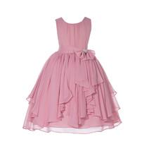 Elegant Yoryu Chiffon Bodice Rhinestone Flower Girl Dresses Special Even... - $38.99