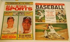 """2 books All-Star Sports & Dell Sports Magazine """"Baseball""""  - $5.45"""