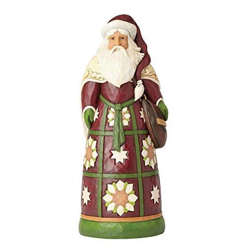 Enesco Jim Shore Heartwood Creek Santa with Satchel Statue - $122.15