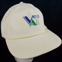 Vintage Duckster VendAll Golf Hat Ajustable Leather Strap Off White Ball... - $17.75