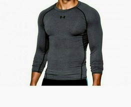 Under Armour Men's Heatgear Compression LS Tee NEW AUTHENTIC Grey 125747... - $34.99