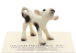 Hagen-Renaker Miniature Ceramic Cow Figurine Spotted Baby Calf