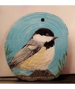 Chickadee Ornament, Wood, Home Decor, Christmas, Animal Portrait, Hand P... - $25.00